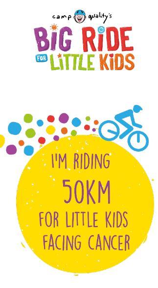 Instagram Story – I'm Riding 50km